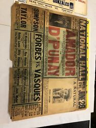 Extremely Rare 1929 Pedro Amador Vs. D'punay Boxing Poster Onsite Only One Known