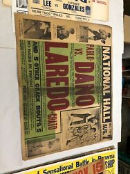 Extremely Rare 1929 Pablo Dano Boxing Poster Onsite Only One Known
