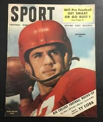 Vintage Sport Magazine November 1948 Smu Doak Walker Newsstand No Label Vtg Rare