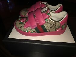 Gucci Ace Girls Toddler Sneakers Size22 (US) 6.5 EUC Sold Out Item