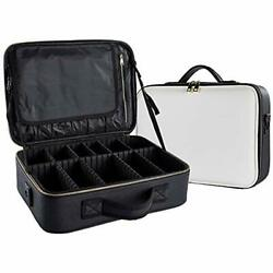 Train Cases Large Professional Makeup Bag Cosmetic Waterproof Leather Travel For