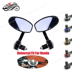Universal Motorcycle Parts Rearview 22mm Handlebar Bar End Side Mirror For Honda