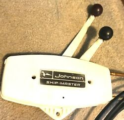 Evinrude Johnson Refurbished 2 handle Outboard Control  NEW 17'