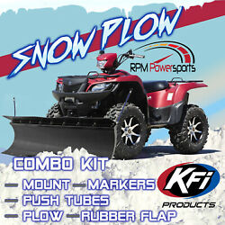 New Kfi 60 Pro Poly Snow Plow And Mount - 2009-2014 Yamaha 550 Grizzly 4x4 Atv