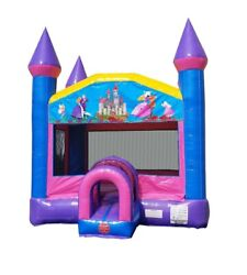 Commercial Inflatable Bounce House With Blower Outdoor Princess Moonwalk Castle