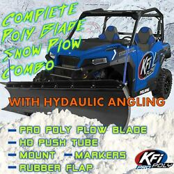 Kfi 72 Hydraulic Angle, Poly Plow Kit For Rzr 570 800 2008-18 Xp 900 2012-14
