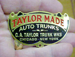 Taylor Made Auto Trunks Deep Acid Etched Data Plate - Teens Through 1930s