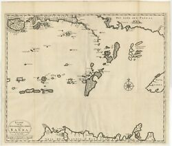 Antique Map Of The Southeastern Part Of The Banda Islands By Valentijn 1726