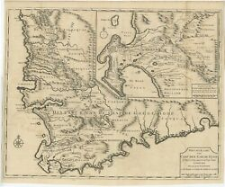 Antique Map Of The Cape Of Good Hope By Valentijn 1726