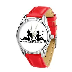 Angel Or Devil Watch Guess Which One Am I Girl Ladies Women Gift Watch