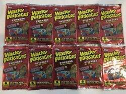 Wacky Packages All New - Ten (10) Unopened Foil Packs - 2004