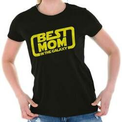 Geeky Best Mom In the Galaxy Funny Nerdy Mothers Day Gift Ladies T Shirt