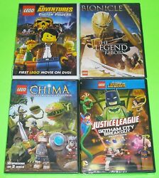 Kid DVD Lot - LEGO Clutch Powers BIONICLE Chima JUSTICE LEAGUE (New)