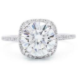 8.5mm Round Moissanite 14kw Gold Diamond Halo And Shoulder Antique Filigree Crow