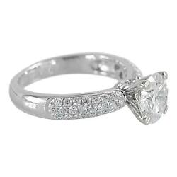 8mm Round Moissanite And Diamond Fire Pave Shoulders 14k White Gold Ring