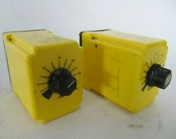 Lot Of 2 Potter And Brumfield On Operate Timer Relays 0.3 - 30 Sec. Cdb-38-70006