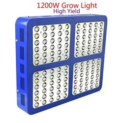 1200w Full Spectrum Double Chip Led Grow Light Red/blue/white/uv/ir With Plated