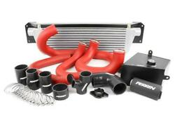Perrrin Fmic Boost Tube Box W/ Red Boost Tubes And Black Couplers For 15-17 Wrx