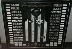 Collingwood Magpies 125 Year Champions Jumper Hand Signed Framed Buckley Daicos