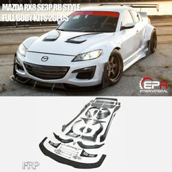 For Mazda RX8 SE3P RB Style FRP Unpainted Full Set Wide Body Racing Kits