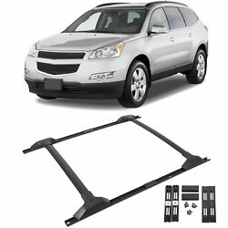 For 09-17 Chevy Traverse Roof Rack Cross Bar And Side Rail Package Combo Set