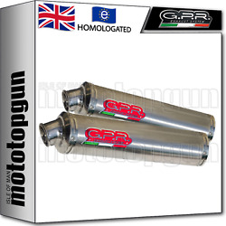 Gpr 2 Mid Full Exhaust System Hom Round Carbon Ducati Monster S2r 2007 07