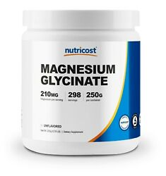 Nutricost Magnesium Glycinate Powder 250 Grams Unflavored