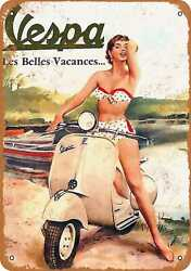 Metal Sign - Vespa Scooters - Vintage Look Reproduction