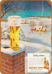 Metal Sign - Goebel Beer For The Holidays - Vintage Look Reproduction