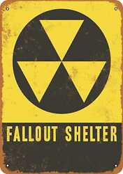 Metal Sign - Fallout Shelter - Vintage Look Reproduction