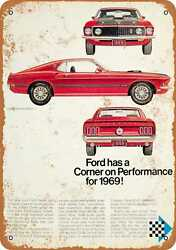 Metal Sign - 1969 Ford Mustang Mach I - Vintage Look Reproduction 2