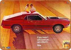 Metal Sign - 1969 Ford Mustang Mach I - Vintage Look Reproduction 3
