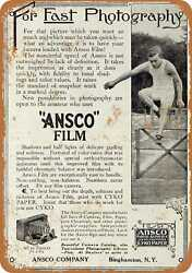 Metal Sign - 1910 Ansco Photographic Film - Vintage Look Reproduction