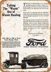 Metal Sign - 1925 Ford One Ton Truck And Trailer - Vintage Look Reproduction