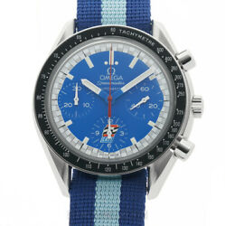 Omega Speedmaster Reduced Indy Cart Andretti 36mm Blue Dial LTD ED 3810.80.08