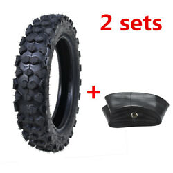 2sets 80/100-10 3.00-10 Tyre Tire + Tube For Off Road Dirt Pit Bike Honda Crf50