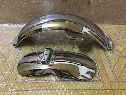 Honda Z50 Z50a K2 1970 - 1972 Chrome Long Tail Rear And Front Mud Guard Fender.