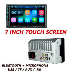 7in Car 2din Mp5 Player Tv Fm Bluetooth Touch Screen Stereo Radio Usb/aux/tf