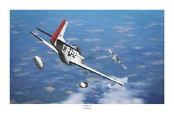 Wwii Ww2 Usaaf Ace Robin Olds Mustang P-51 Aviation Art Photo Print - 8 X 12