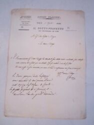 Antique 1811 French Document Letter - Spectacular Writings - Ofc-2