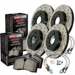 StopTech 978-34081 Sport Brake Kit Drilled And Slotted Front And Rear Incl. Roto