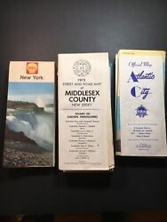 Lot Of 24 Vintage Road Maps Mostly Ny Nj Penn Eastern States See Photos 60andrsquo-70andrsquos