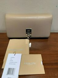 *NWT* Michael Kors Collection Miranda Continental Beige Leather Wallet $395 $179.00