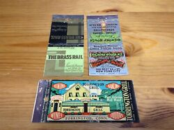 Lion Feature Matchcover Lot Ny Brass Rail Hickory House Torringtons Grill Conn