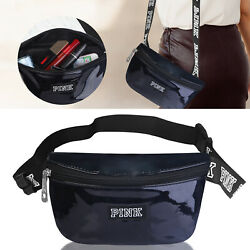 Womens Fanny Pack Shiny Leather Pouch Belt Bag Waist Phone Pocket Travel Casual $10.37