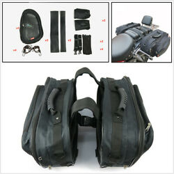 Motorcycle Rear Saddle Bag Luggage Pannier Helmet Tank Bag Great Capacity 36-58L