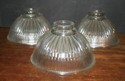 3 Thick Glass Lamp Shade Covers Clear Glass Pressed Wall Bulb Hanging Sconce