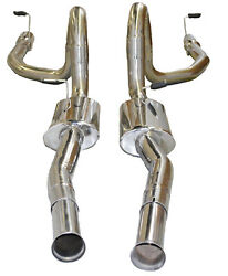 Ss Dual Catback Exhaust For 94-98 Mustang Gt Coupe 2d V8 Only 4andldquo Tips Od