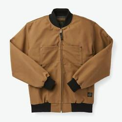 Nwt Filson C.c.f. Bomber Zip Jacket Coat Sepia Brown L Xl Made In Canada Menand039s