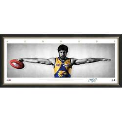 Josh Kennedy West Coast Eagles Signed Framed Signature Series Wings Print